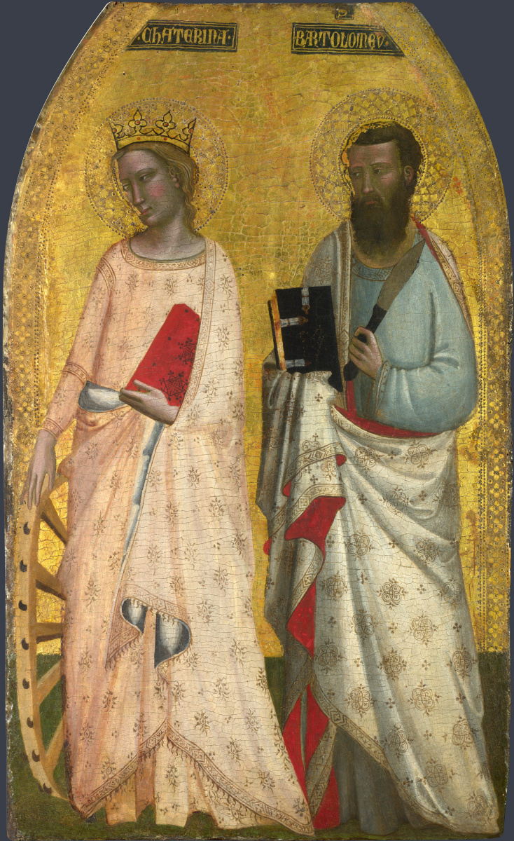 Аллегретто Нузи. Святая Екатерина и Святой Варфоломей