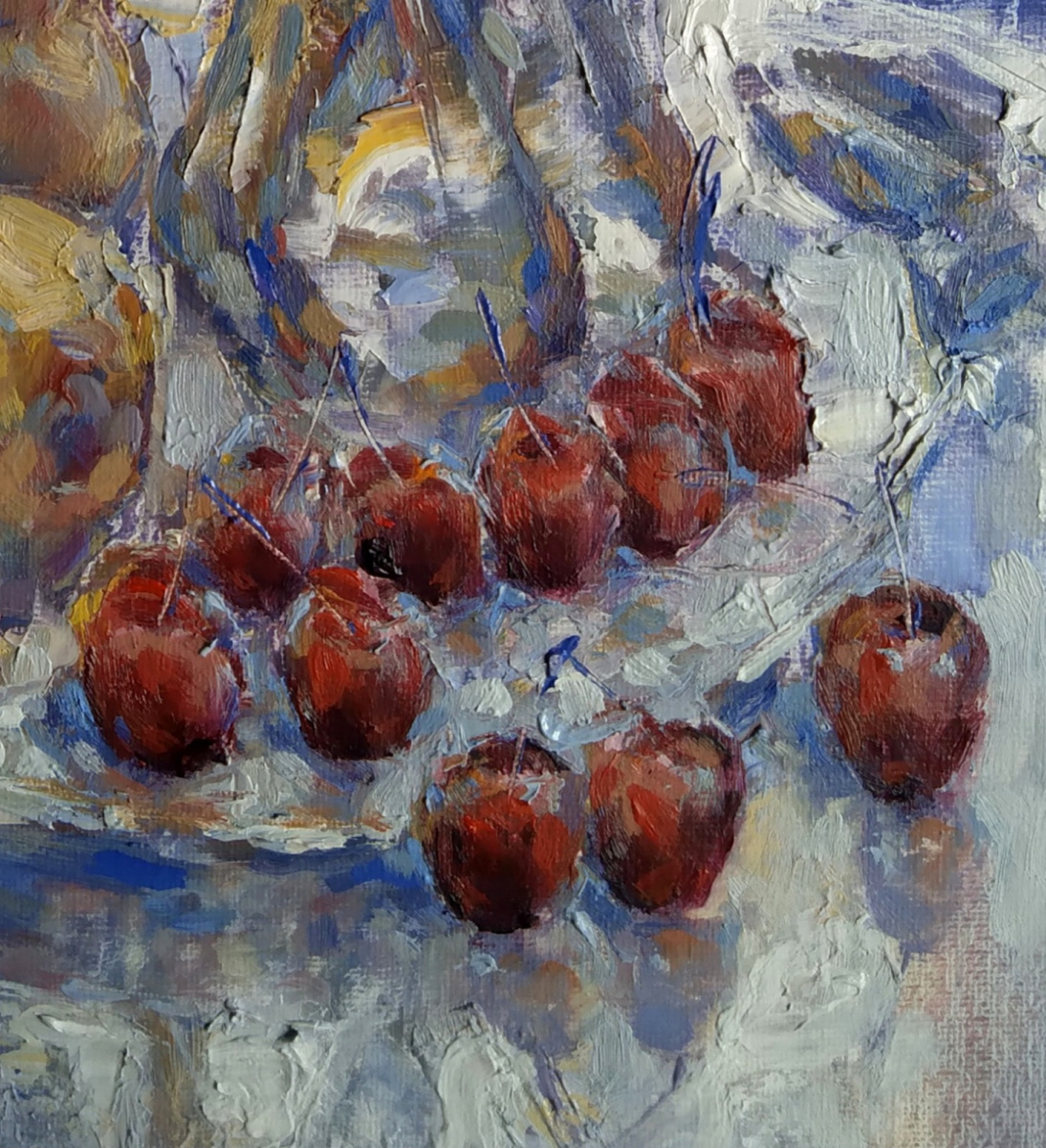 By the window with Cherries