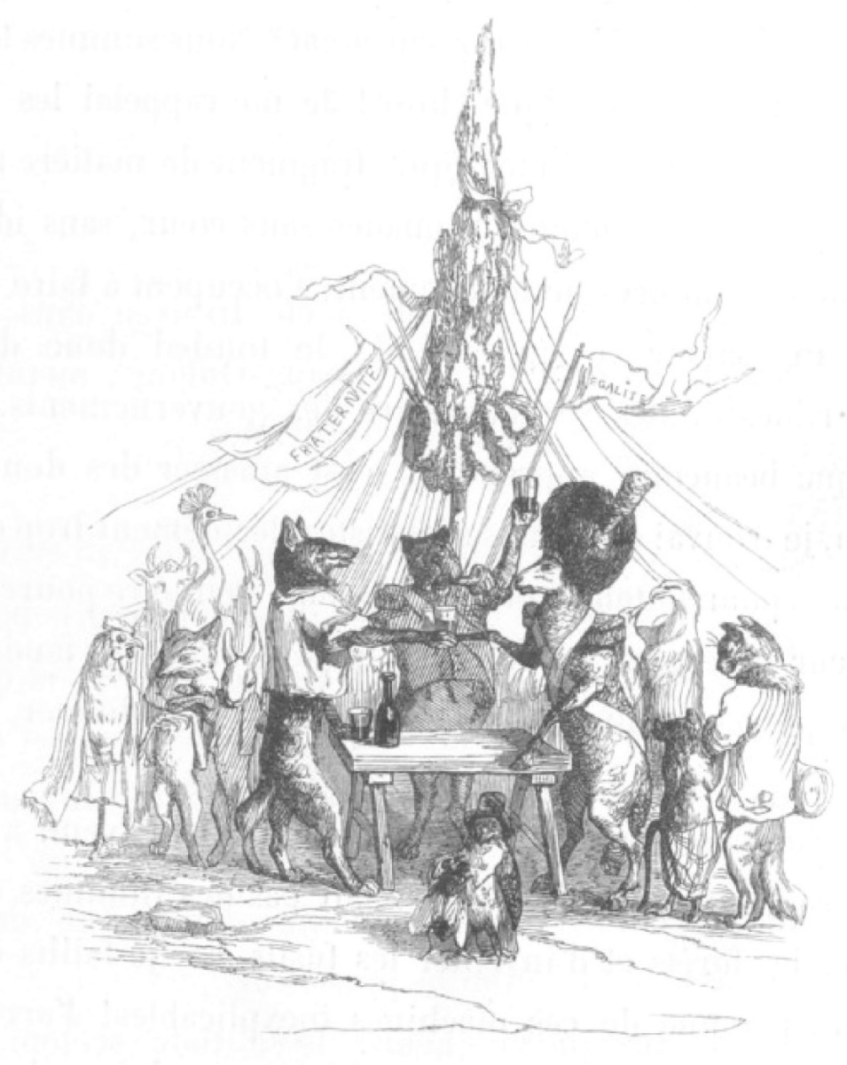 "Jean Inias Isidore (Gerard) Granville. The Republic of Volkov. ""Scenes of public and private life of animals"""