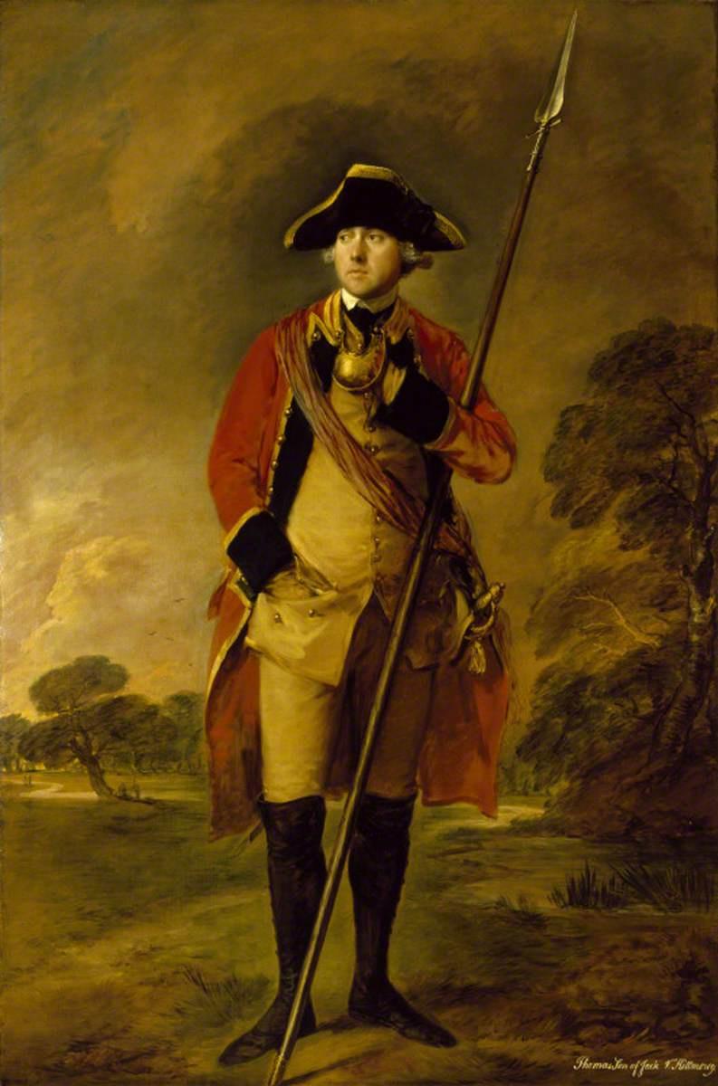 Томас Гейнсборо. Достопочтенный Томас Нидхэм в форме 3-го Гвардейского пехотного полка, Бакингемшир