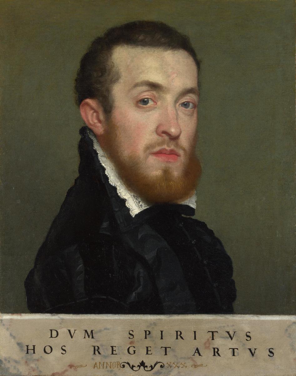 Джованни Баттиста Морони. Бюст. Портрет молодого человека с надписью