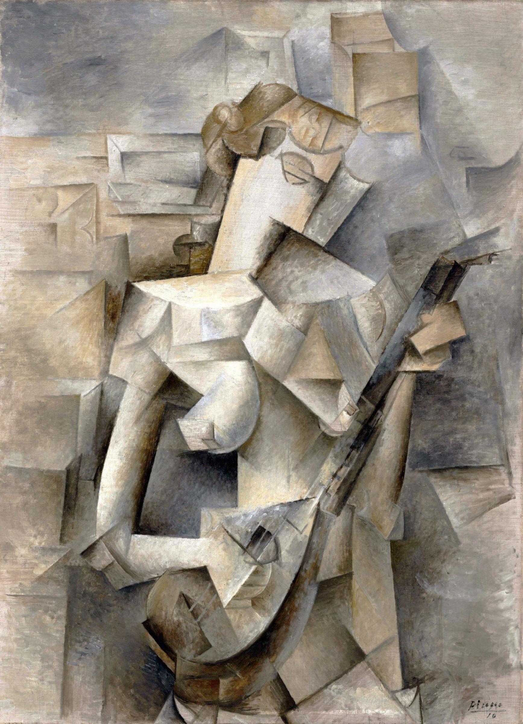 Пабло Пикассо. Девушка с мандолиной (Фанни Телье)