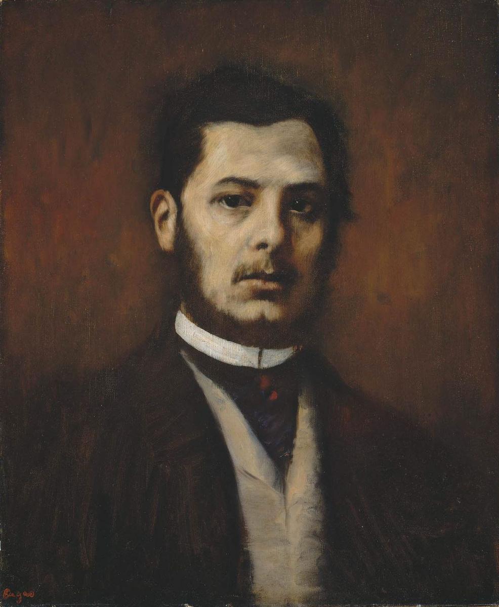 Edgar Degas. Portrait of a man