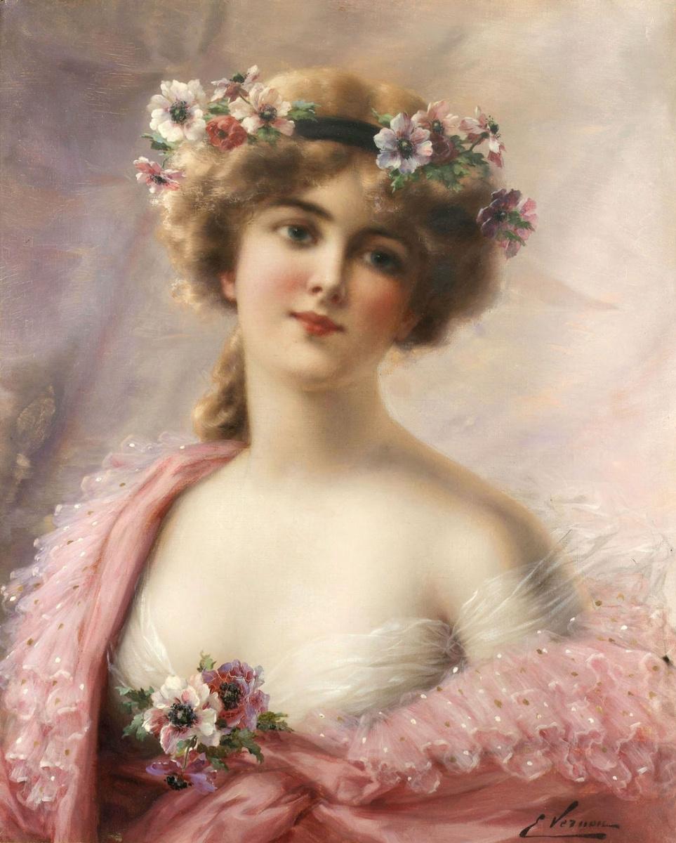 Эмиль Вернон. Летняя красавица.  Частное собрание