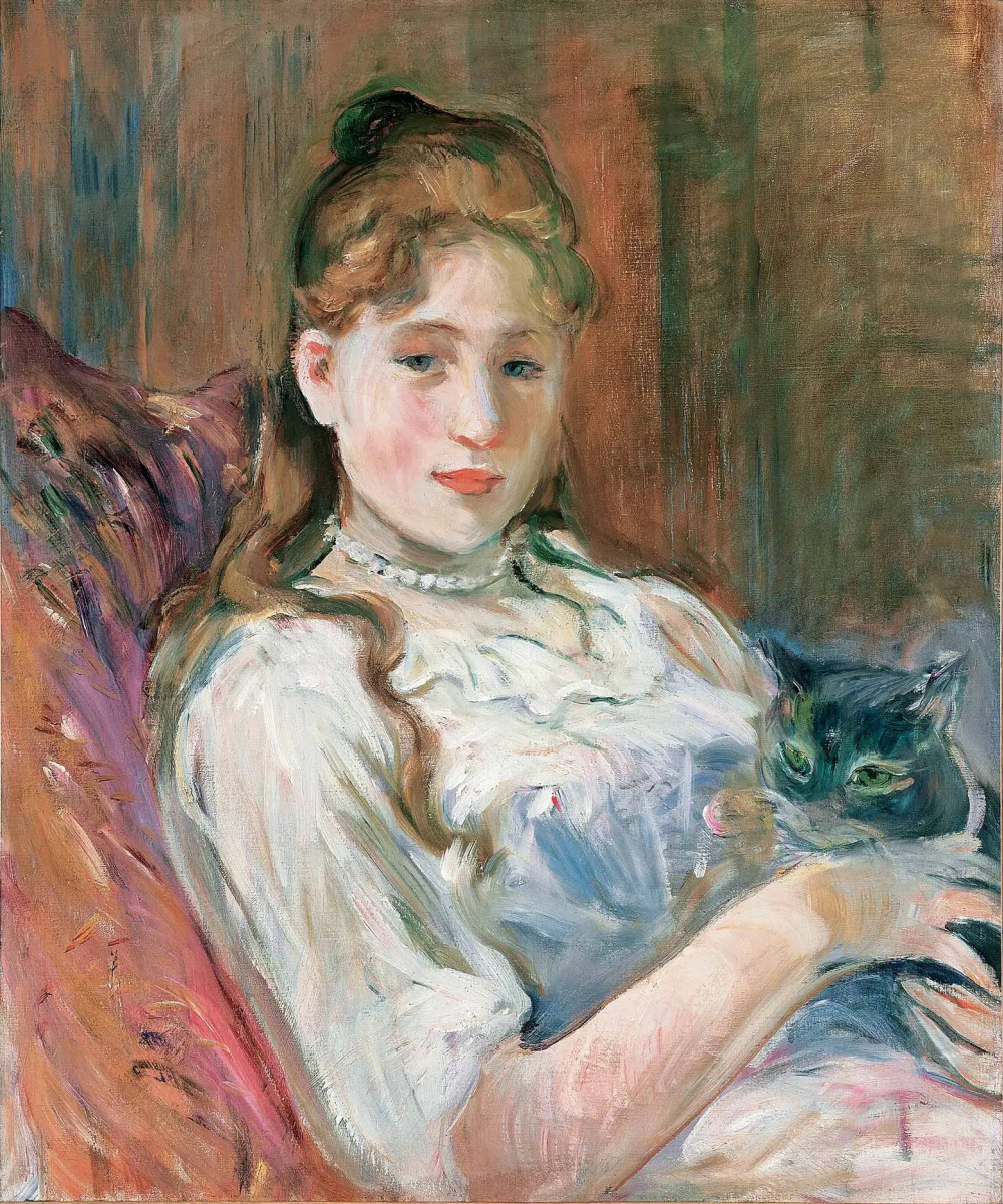 Berthe Morisot. Girl with a cat