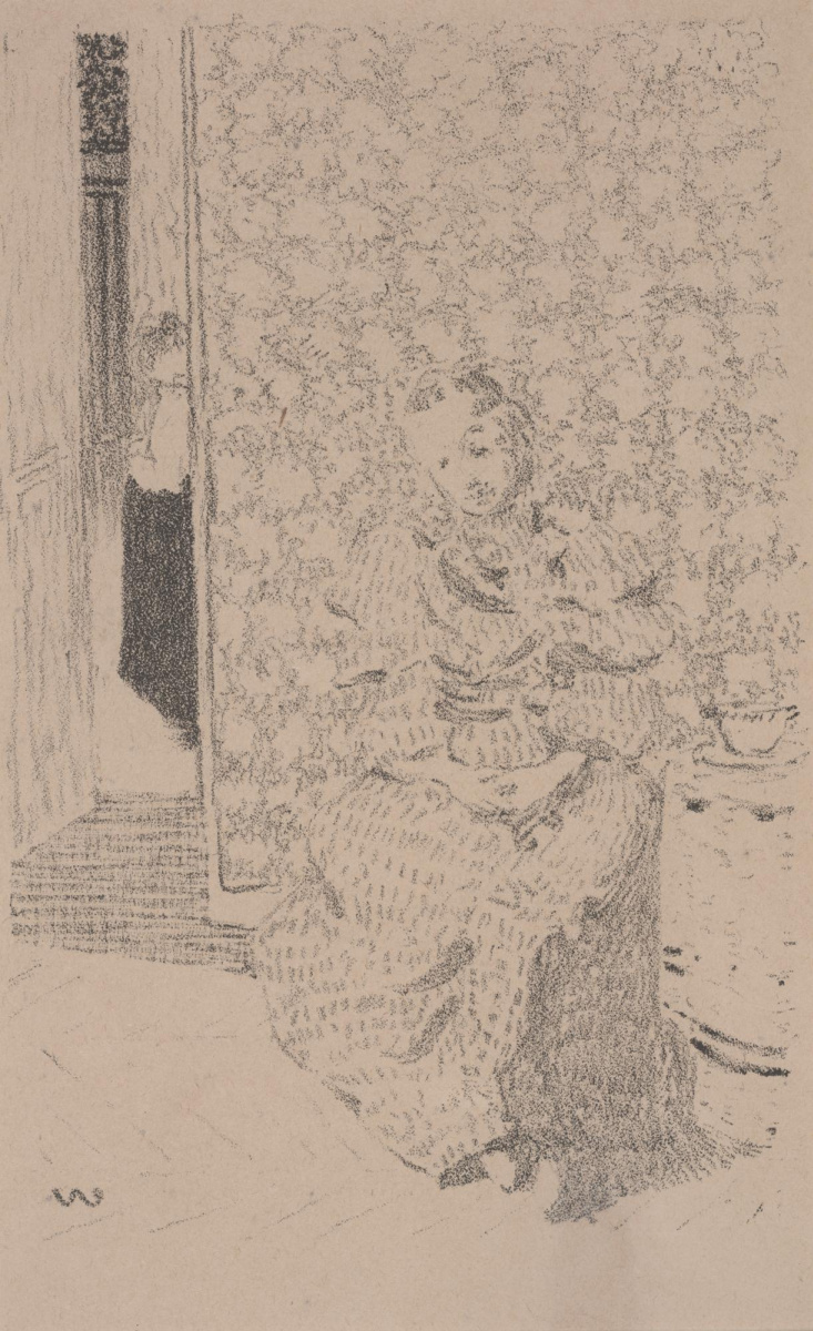 Жан Эдуар Вюйар. Девушка в интерьере