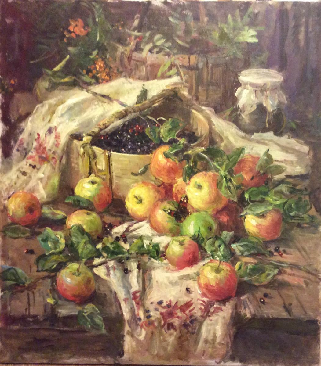 A. N. Shirokov. Apple still life