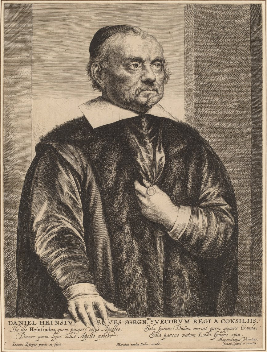 Ян Ливенс. Портрет Даниэля Хайнсиуса