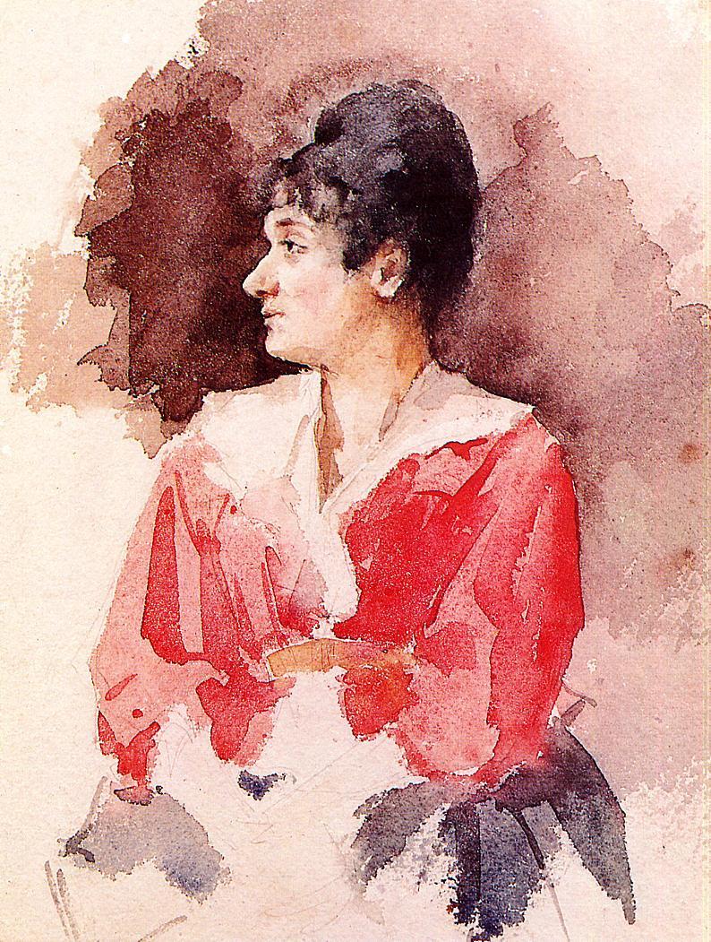 Mary Cassatt. Profile Italian women