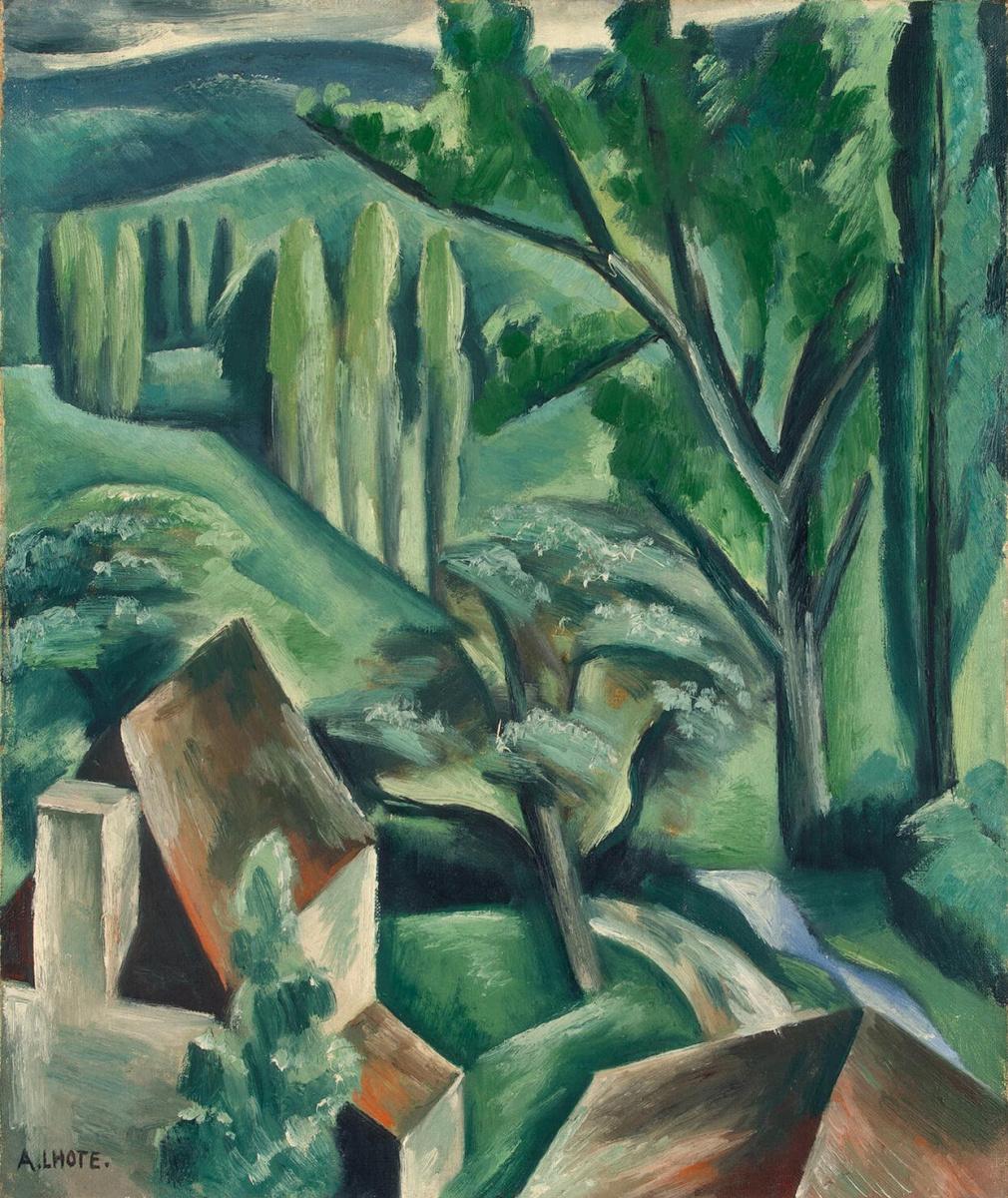 Андре Лот. Зеленый пейзаж