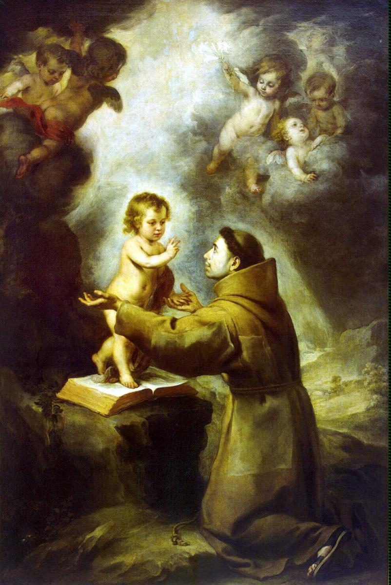 Бартоломе Эстебан Мурильо. Видение Святого Антония Падуанского