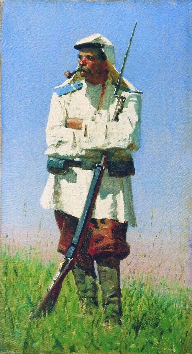 Василий Васильевич Верещагин. Туркестанский солдат в зимней форме