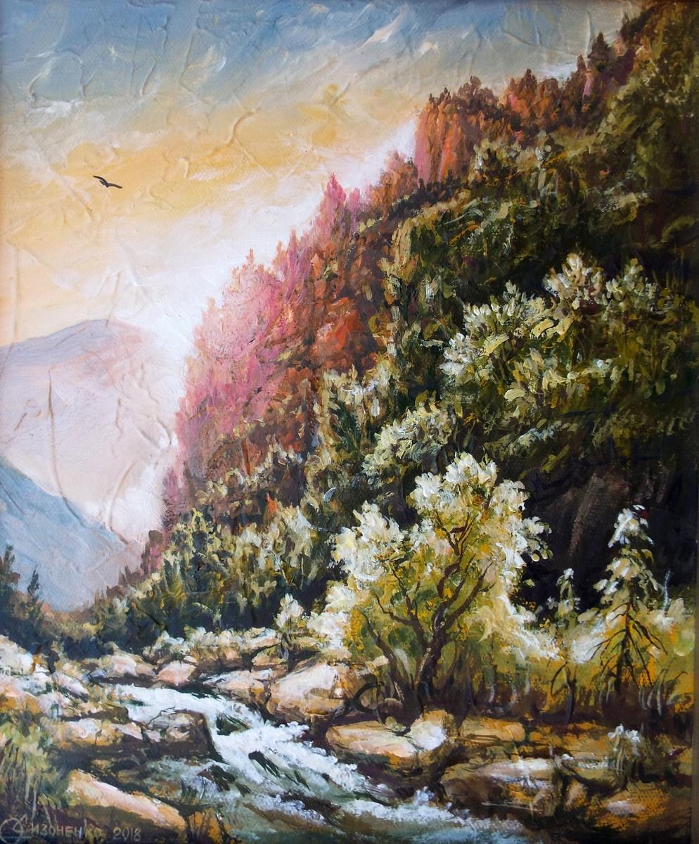 Yuri Vladimirovich Sizonenko. Morning in the mountains.