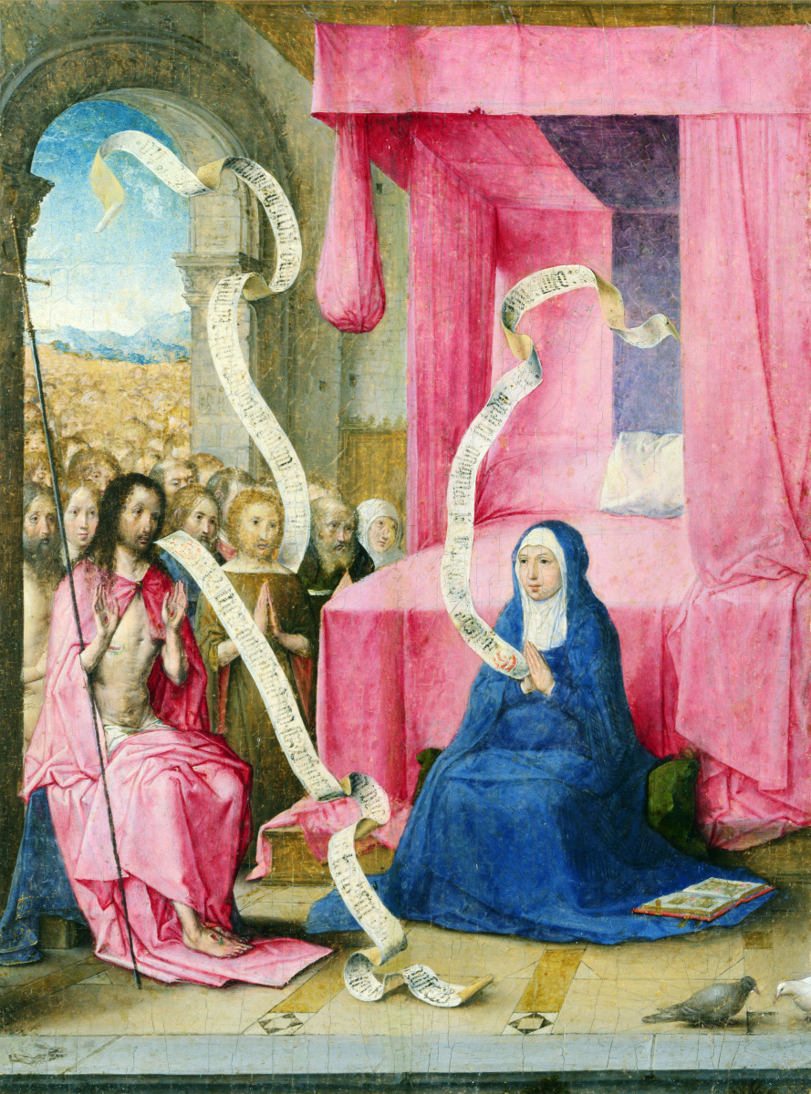 Хуан Фландес. Явление Христа Богородице