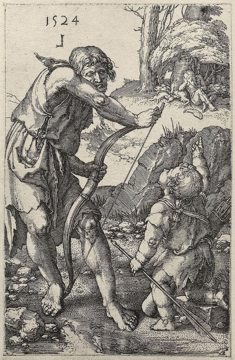 Лукас ван Лейден (Лука Лейденский). Ламех и Каин