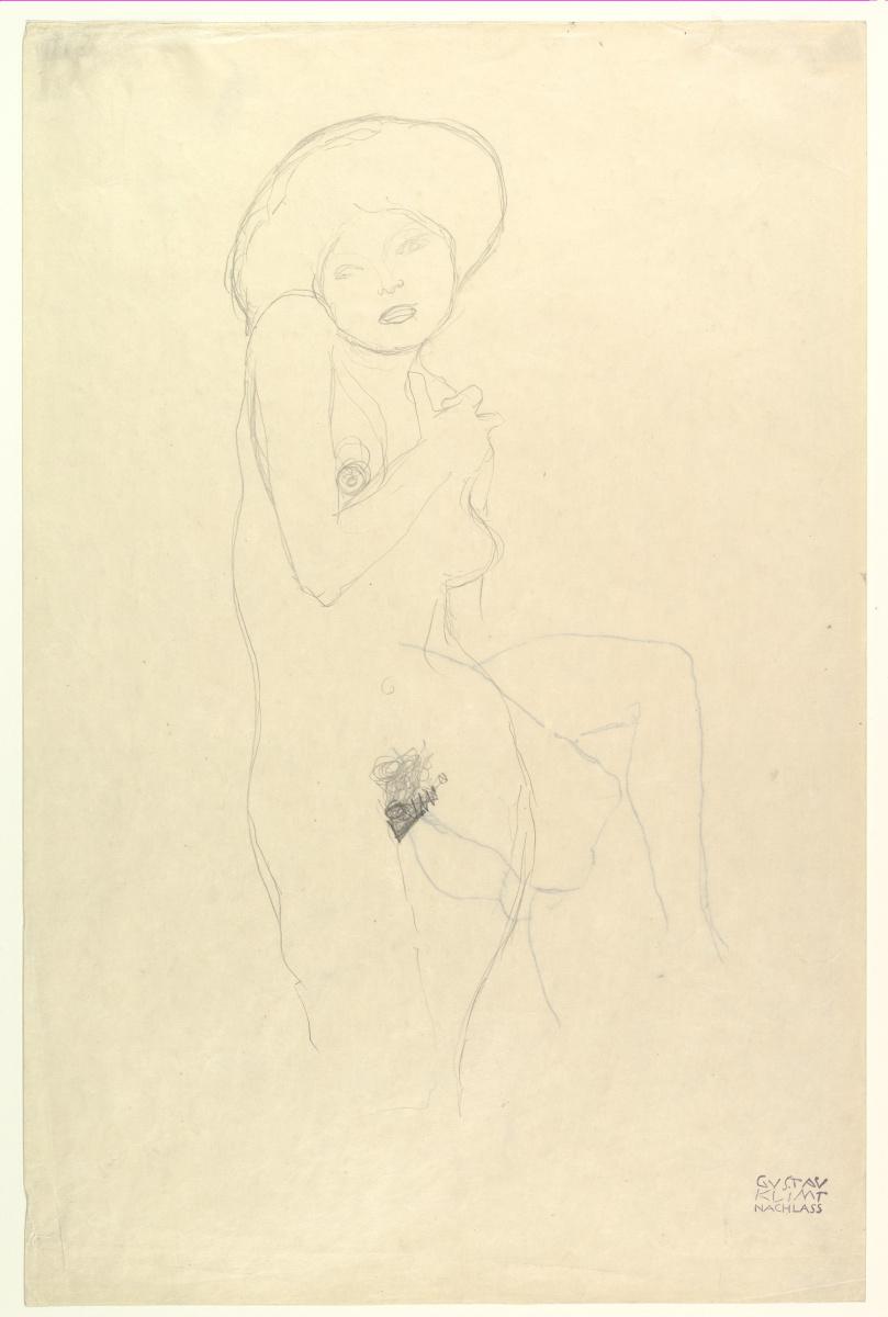 Густав Климт. Стоящая обнажённая
