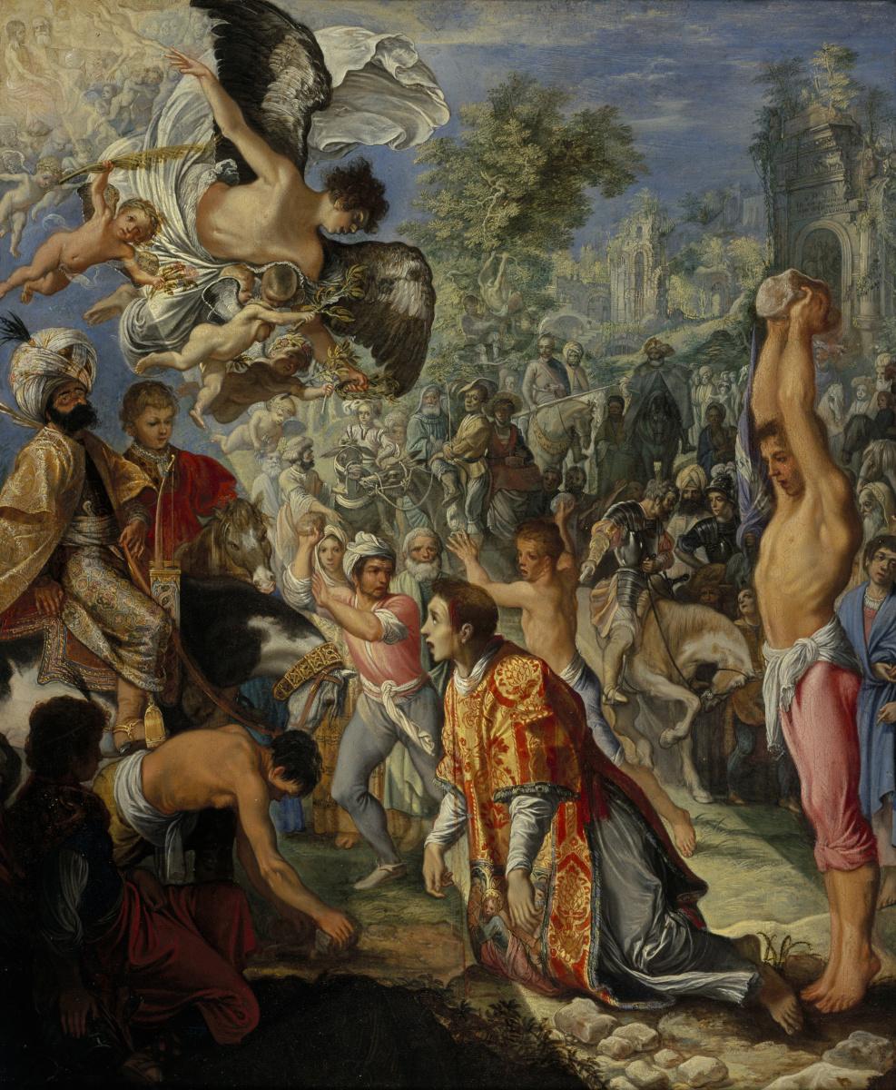 Adam Elsheimer. The Stoning of Saint Stephen