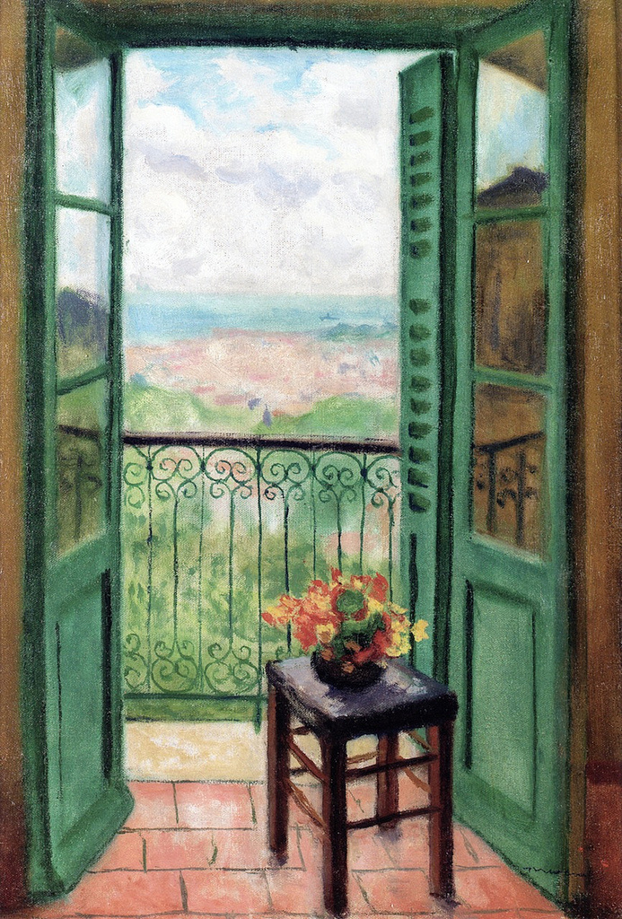Albert Marquet. The window overlooking the Algerian Bay