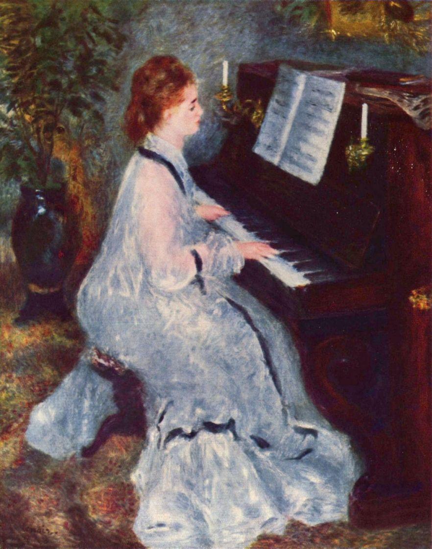 Пьер Огюст Ренуар. Женщина у клавира