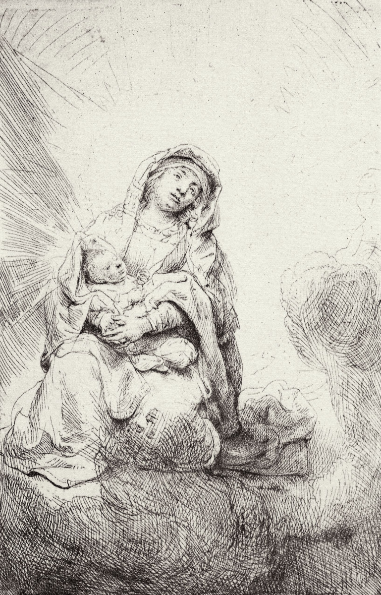 Рембрандт Харменс ван Рейн. Мадонна в облаках