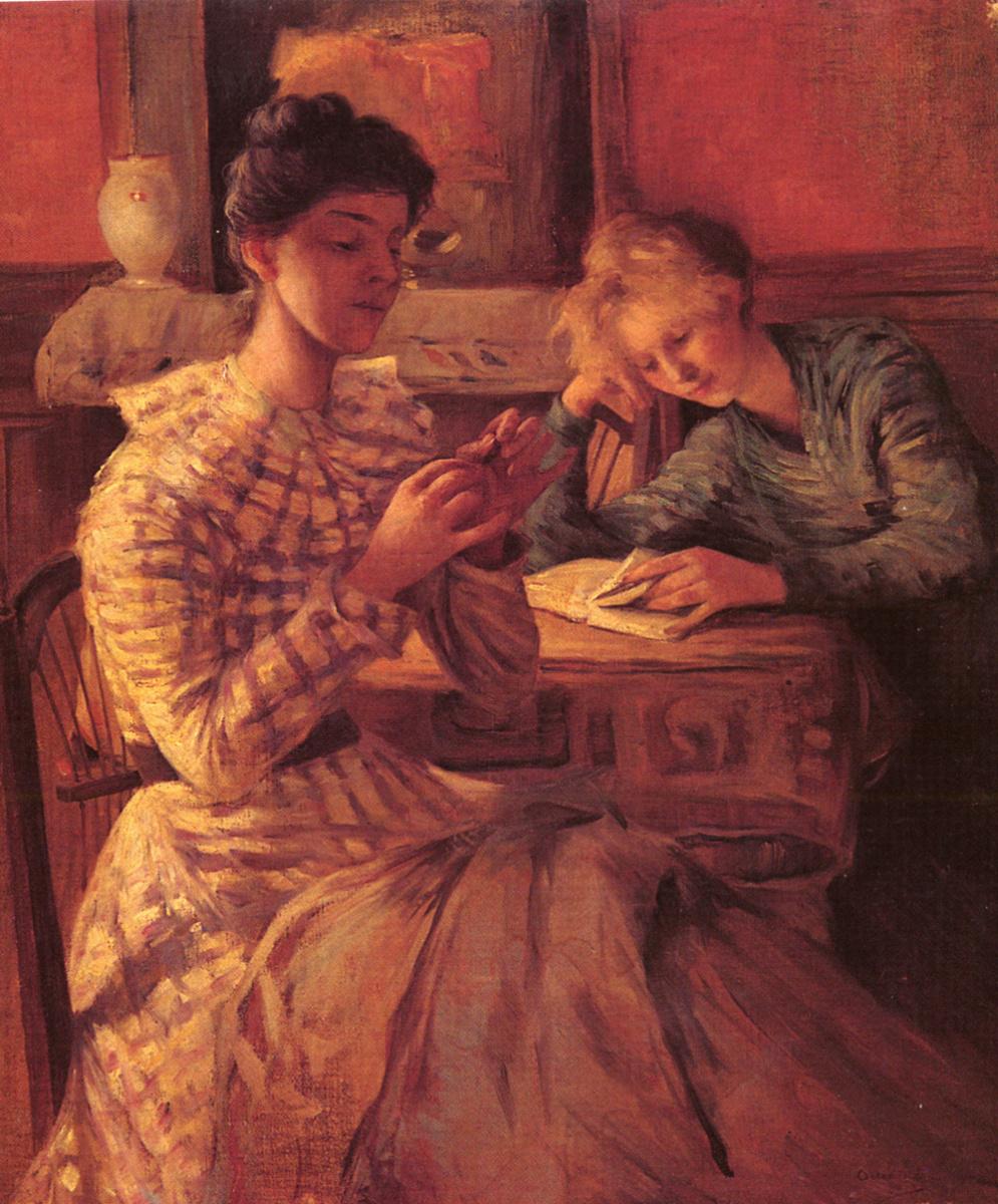 Аллан Остерлинд. Две сидящие женщины