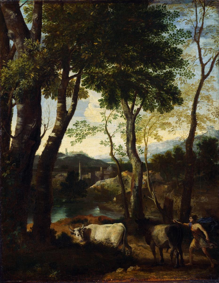 Дугхет Гаспар. Пейзаж с пастухом