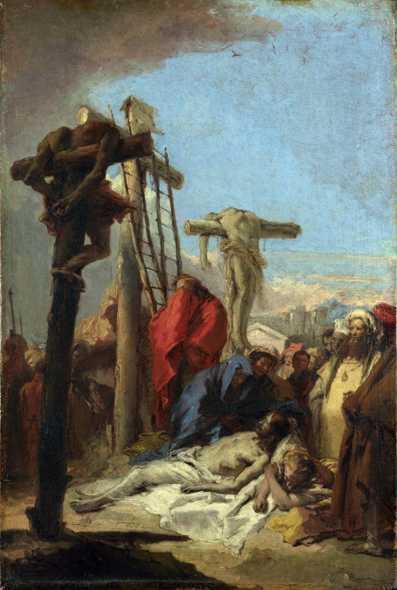 Джованни Доменико Тьеполо. Плач у подножия Креста