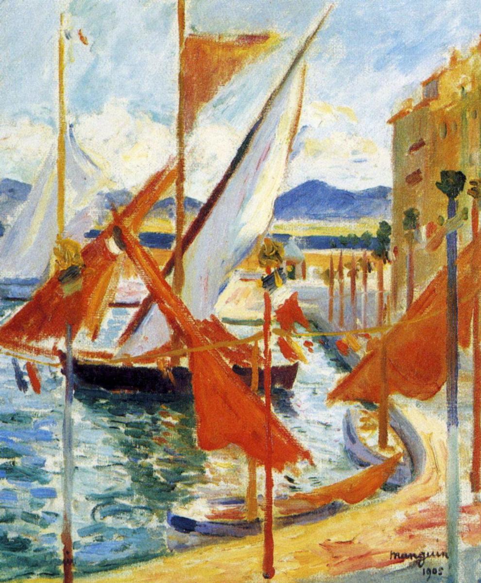 Henri Manguin. On 14 July, Saint-Tropez. The right Bank