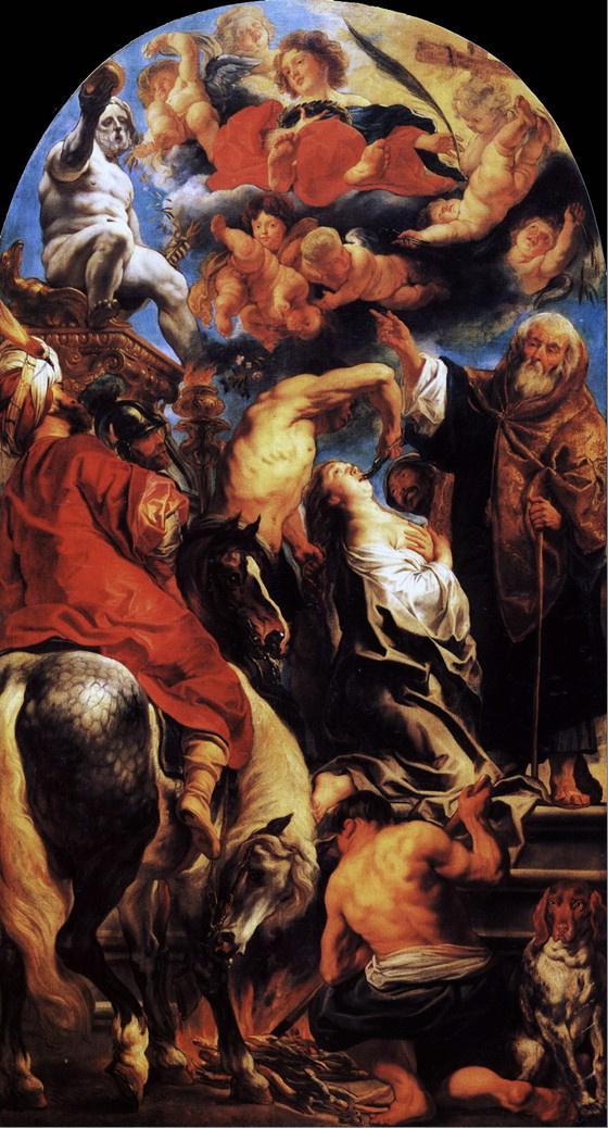 Якоб Йорданс. Мученичество святой Аполлонии