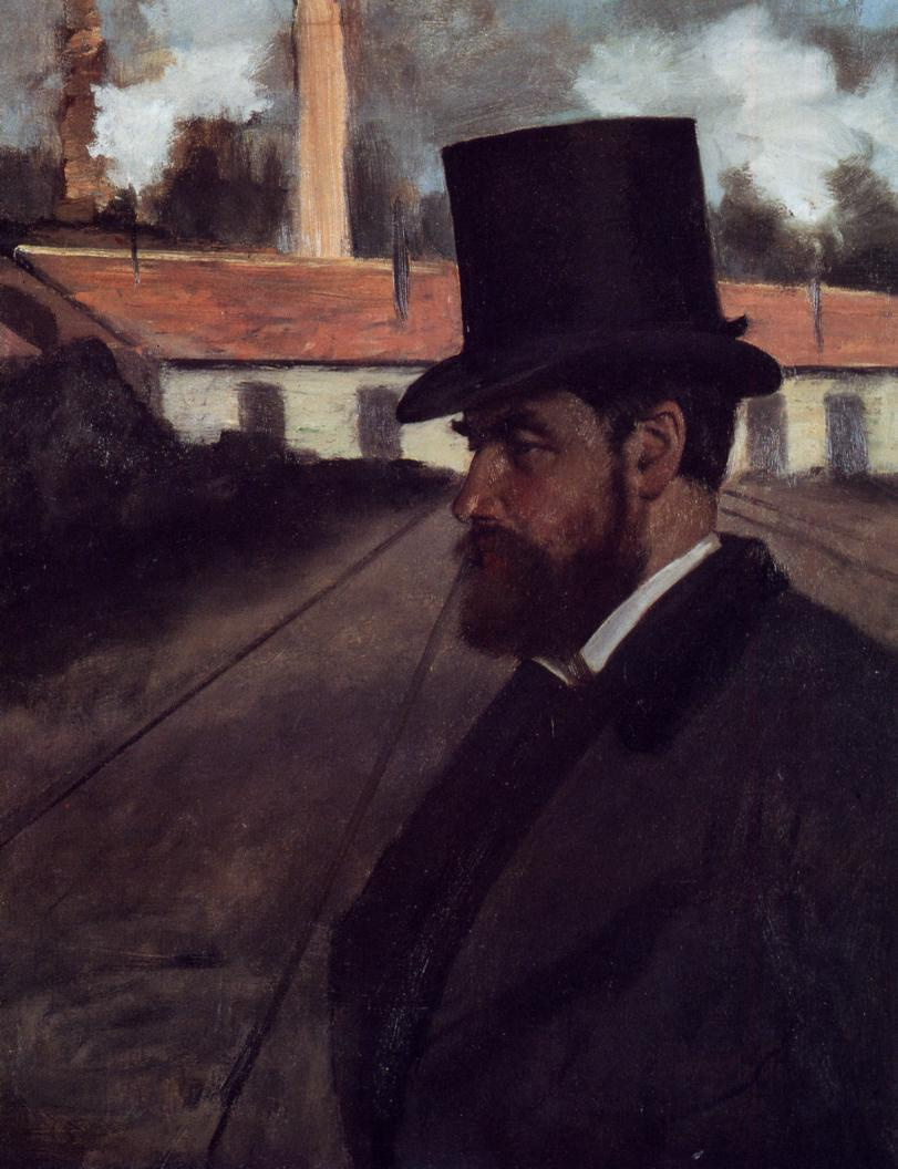 Edgar Degas. Henri Roar in front of his factory