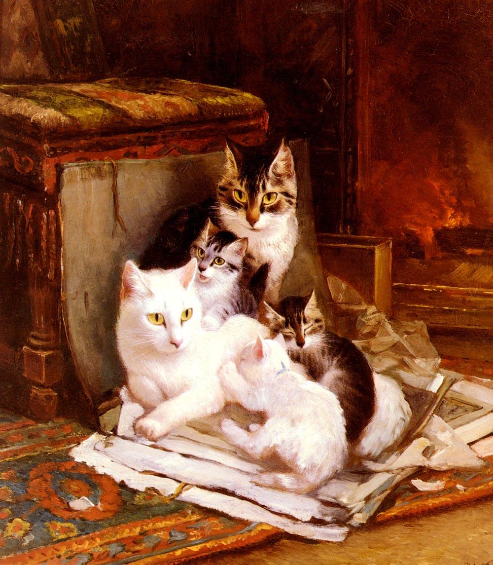 Генриетта Роннер-Книп. Кошачья семья