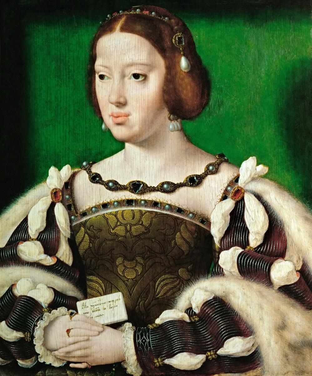 Jos van Kleve. Portrait of Eleanor of Austria, Queen of France (1498-1558) OK 1530