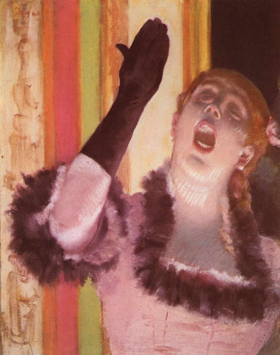 Эдгар Дега. Певица в перчатке