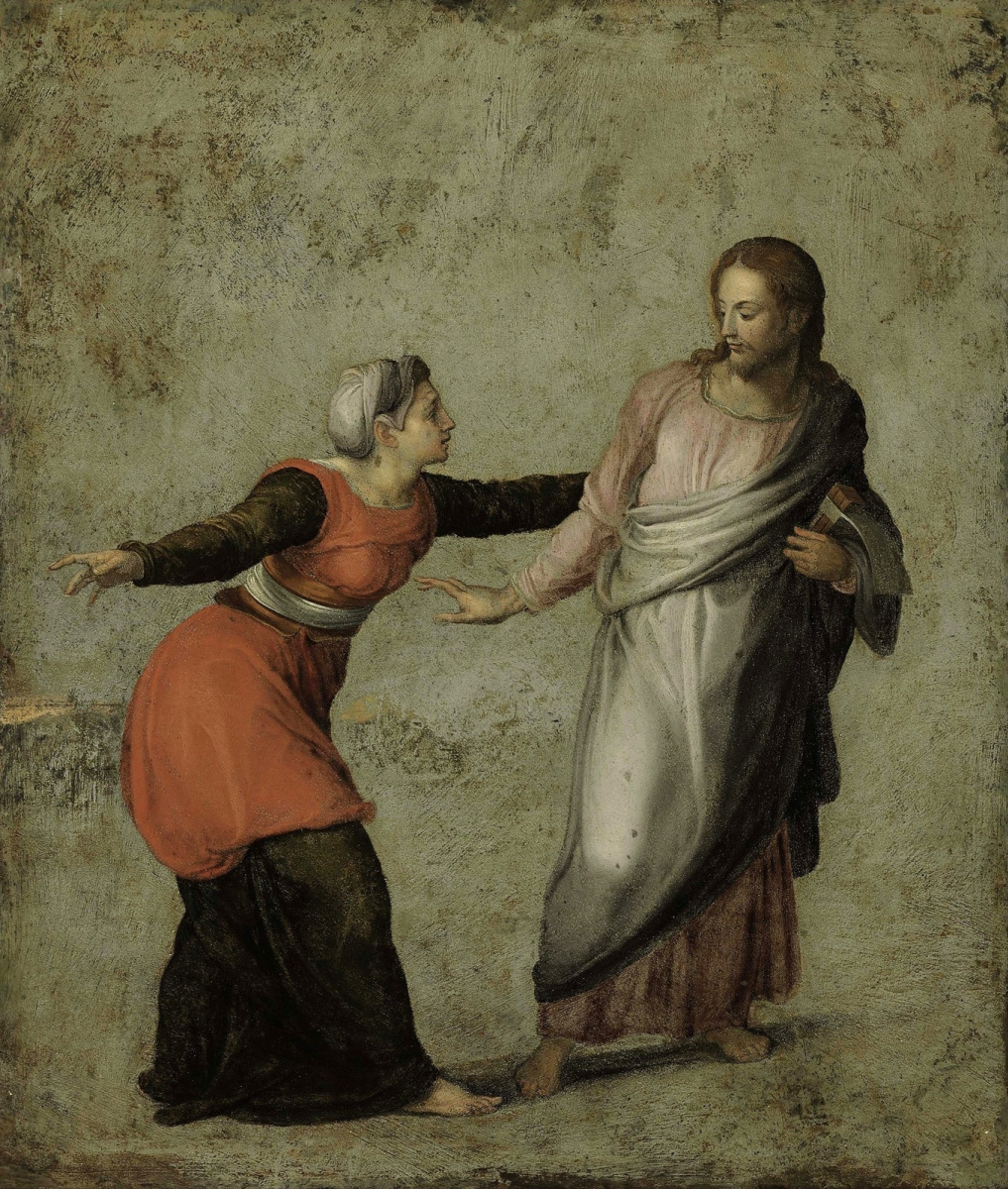 Alessandro Allori. The Risen Christ and Mary Magdalene (Do not Touch Me)