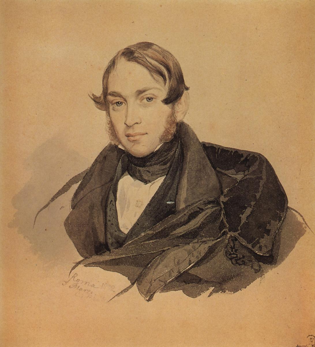 Karl Bryullov. Portrait Of S. A. Sobolevsky