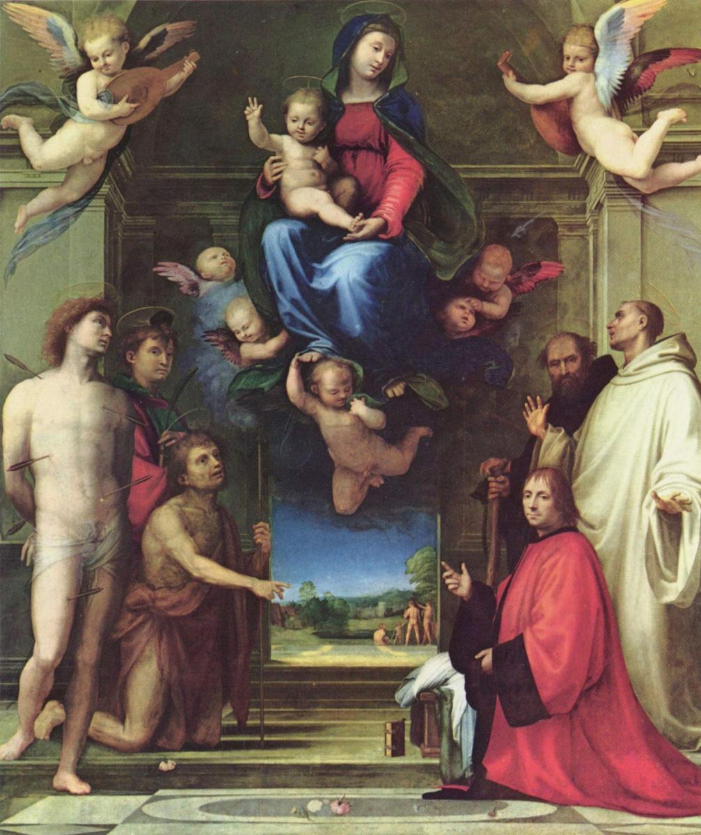 Fra Bartolomeo. Mary with saints and donor Jean Karandol