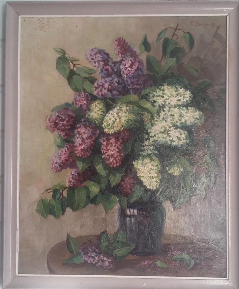 Boris Zorin. A bouquet of lilacs.
