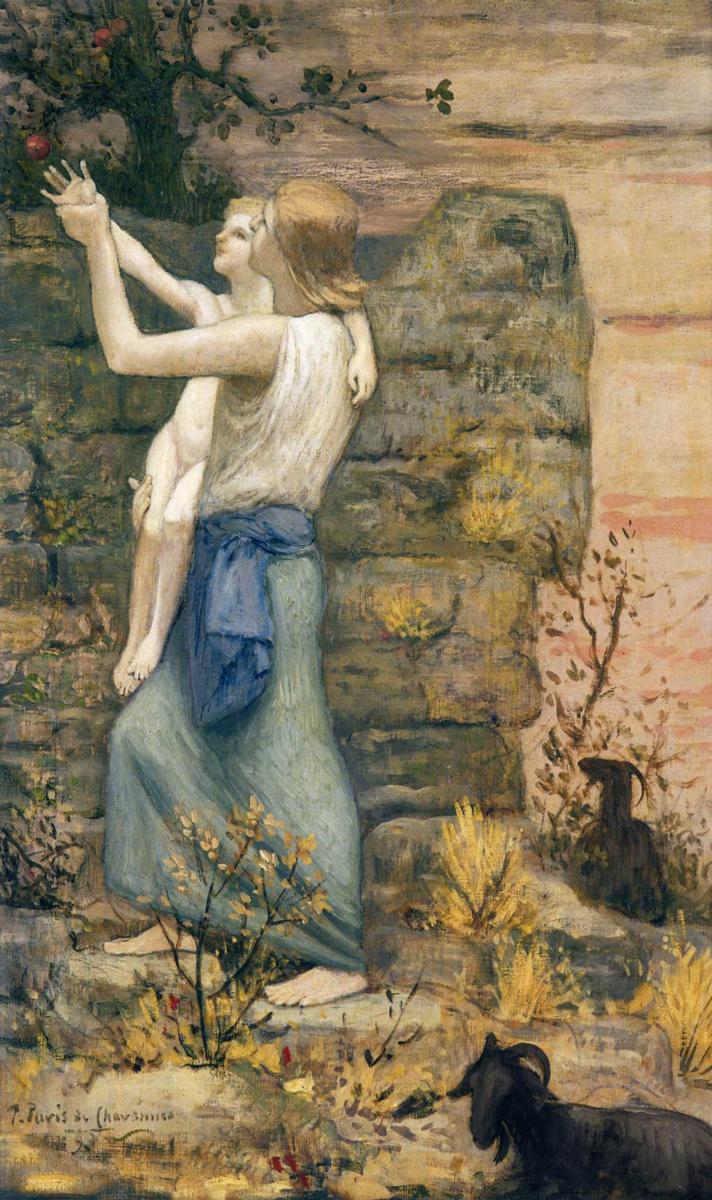 Пьер Сесиль Пюви де Шаванн. Девушка с ребенком