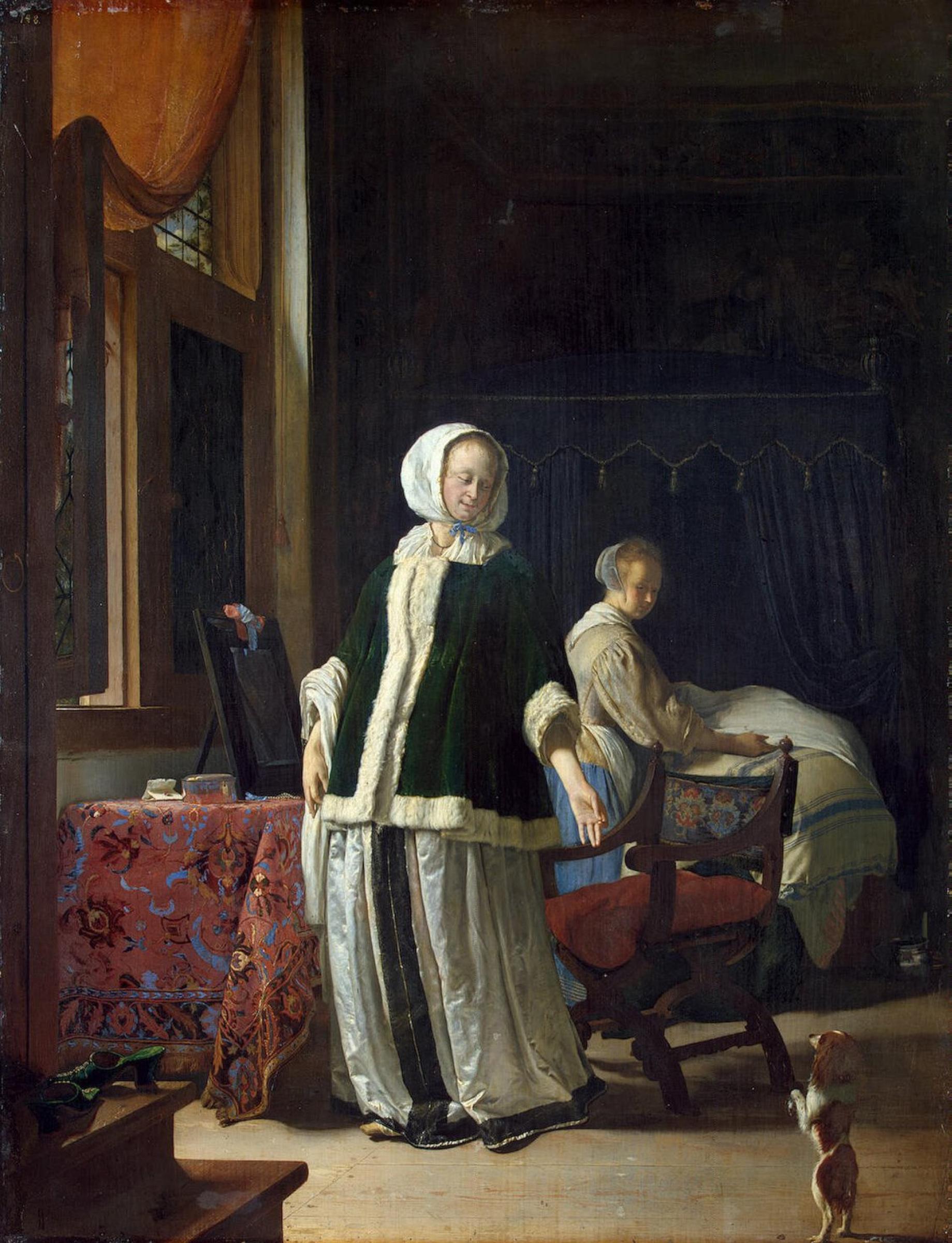 Франц ван Мирис Старший. Утро молодой дамы