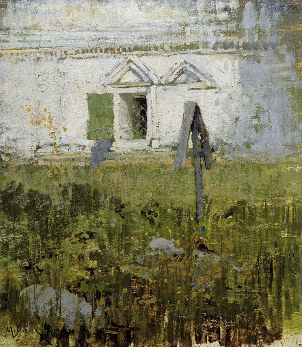 Исаак Ильич Левитан. У церковной стены