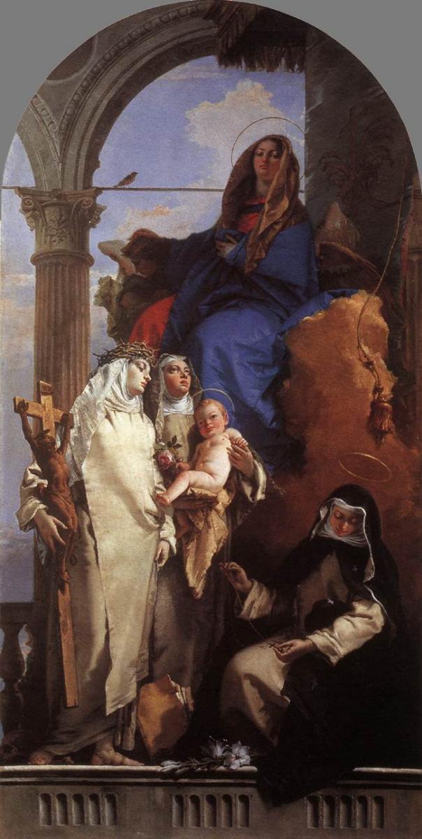 Джованни Баттиста Тьеполо. Явление Богородицы доминиканским святым