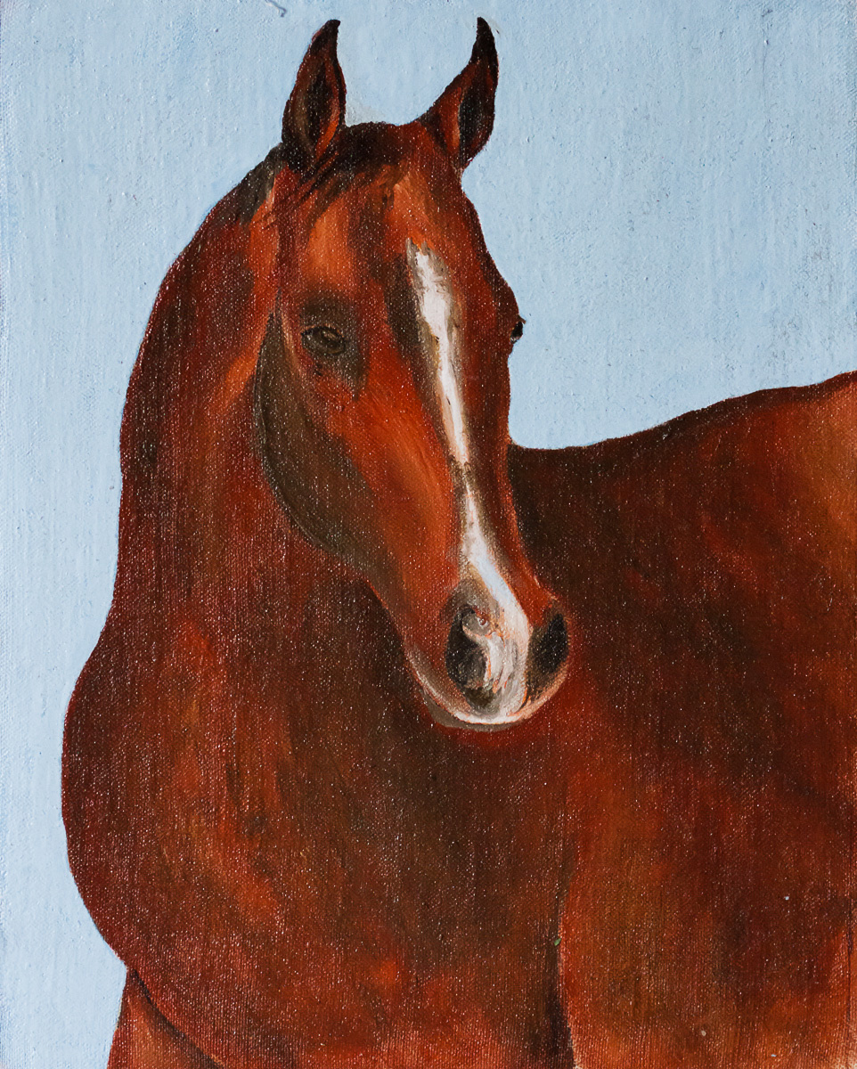 Victor Petrovich Burmin. Portrait of a horse