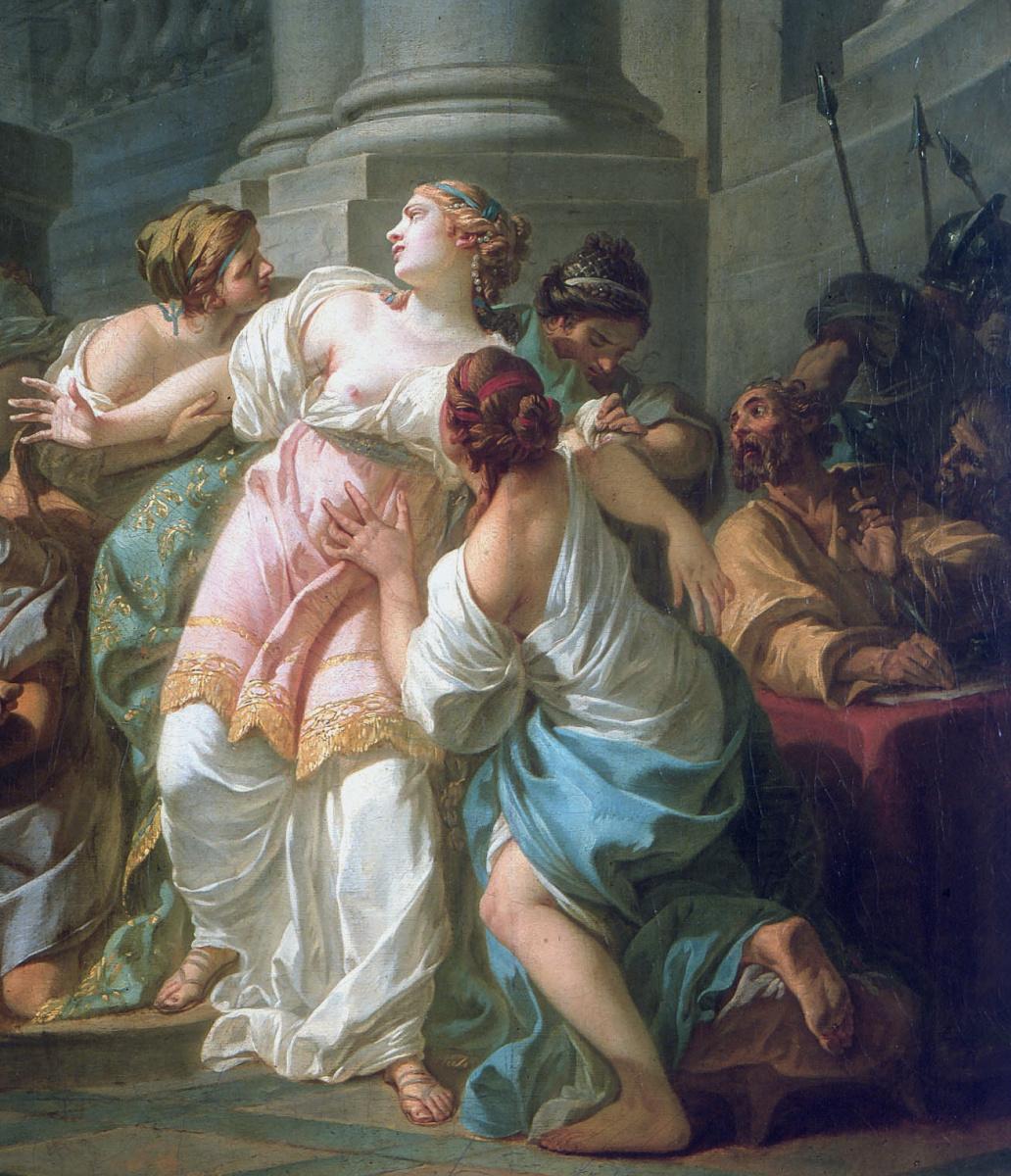 Jacques-Louis David. The Death Of Seneca. Fragment