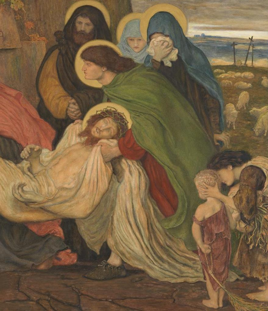 Ford Madox Brown. The burial of Jesus by the apostles. Fragment