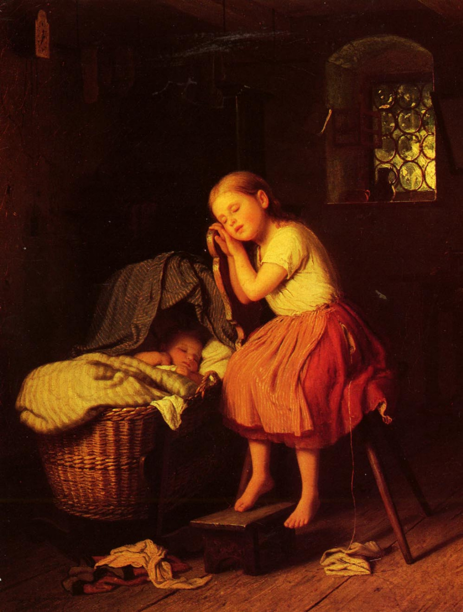 Иоганн Георг Мейер фон Бремен. Спящие дети
