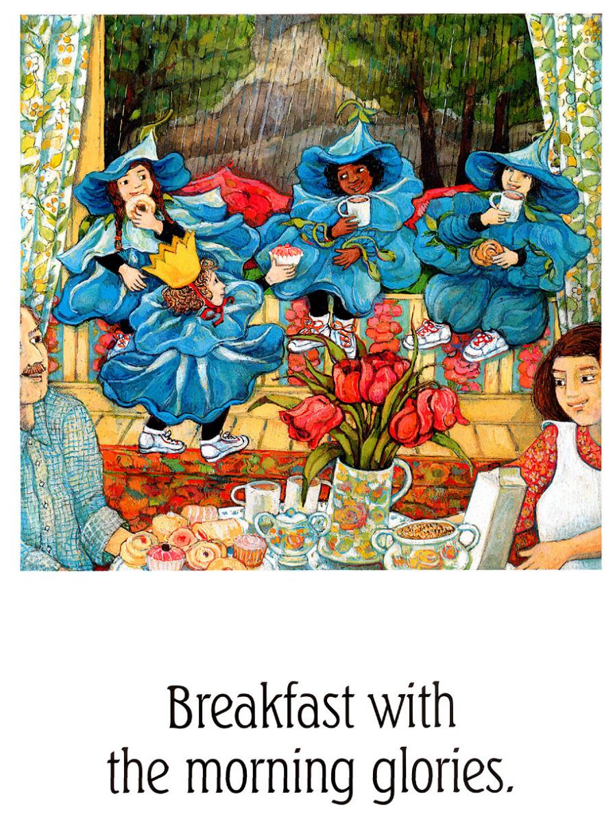 Анита Лобель. Завтрак с ипомеями