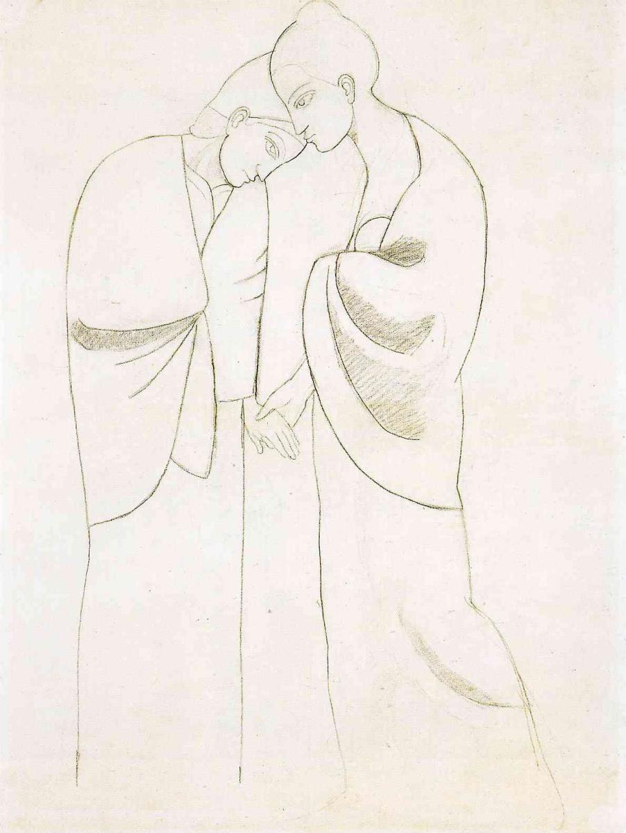 Пабло Пикассо. Две сестры (набросок)