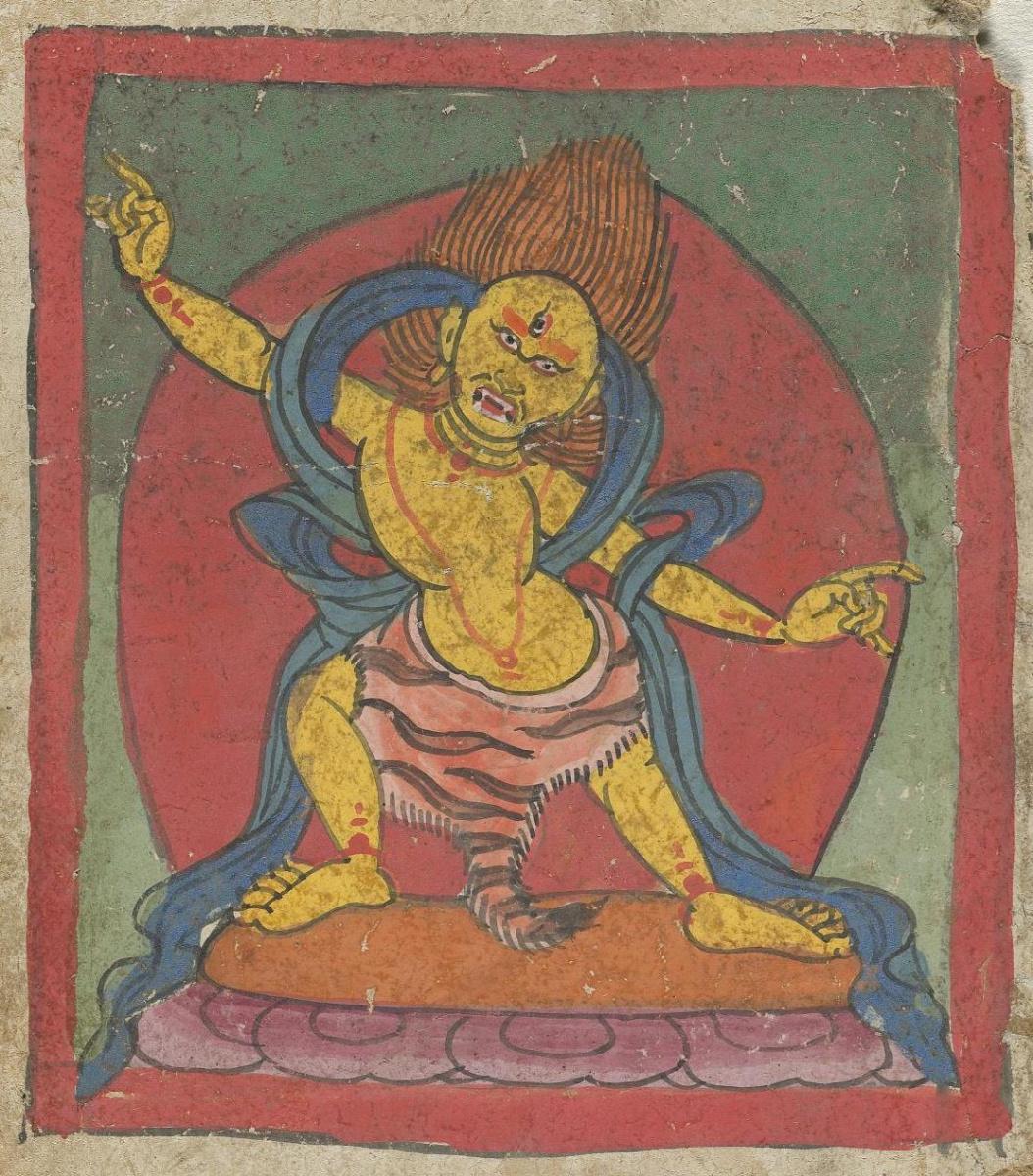 Unknown artist. The deity of the Tibetan Bon religion. Map 32