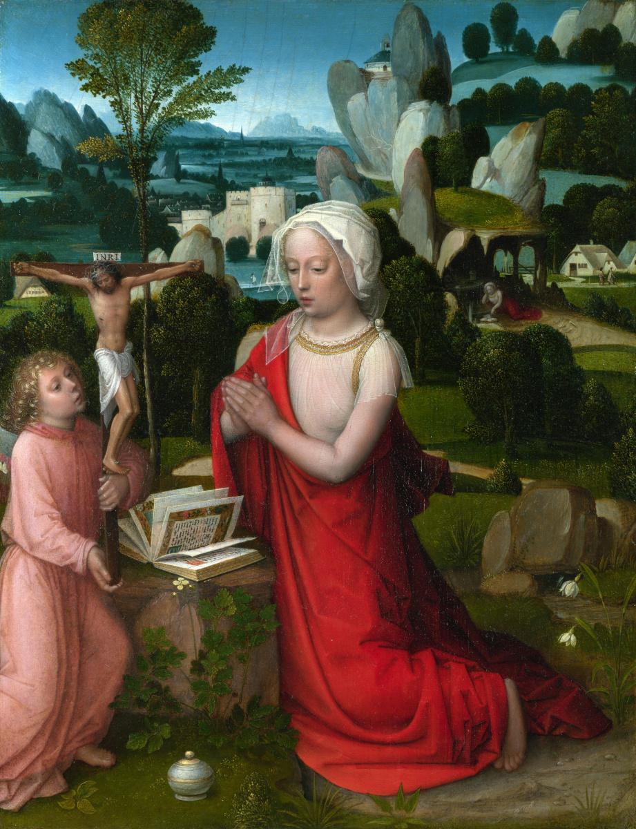 Адриан Изенбрант. Пейзаж с Магдалиной