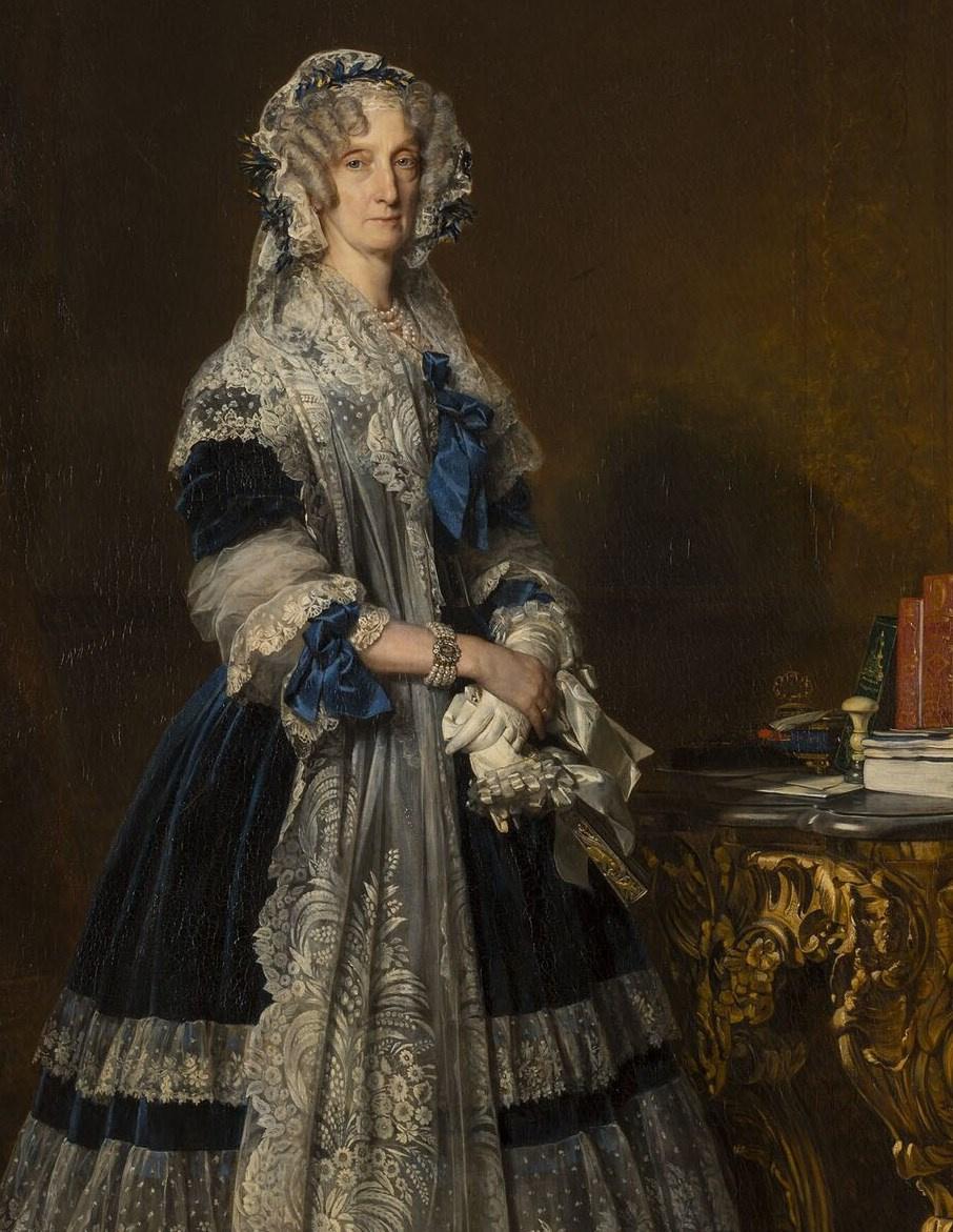 Франц Ксавер Винтерхальтер. Мария-Амалия де Бурбон, королева Франции. Фрагмент